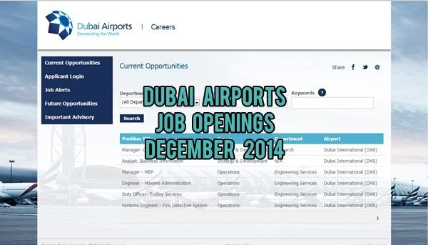 dubai airports jobs december 2014