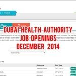 Dubai Health Authority UAE Job Openings December 2014