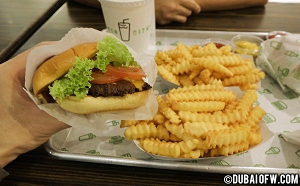 dubai mall shake shack restaurant