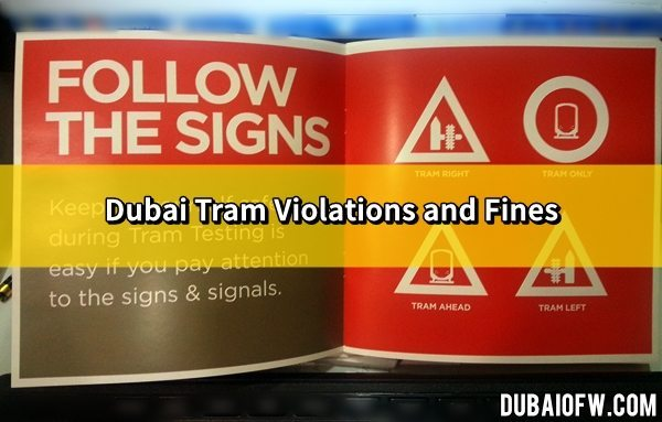 dubai tram violations fines