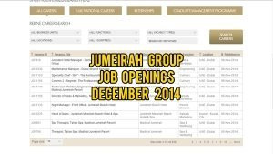 jumeirah group jobs december 2014