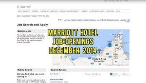 marriott hotel jobs december 2014
