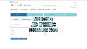 microsoft jobs december 2014