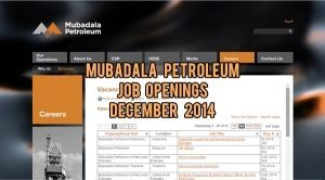 mubadala petroleum jobs december 2014
