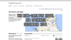 ritz carlton jobs december 2014
