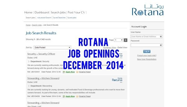 Rotana Hotels & Resorts UAE Jobs December 2014