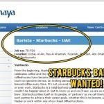 JOB ALERT: Starbucks Baristas by Alshaya Group
