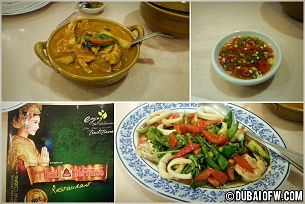 thai terrace food karama dubai