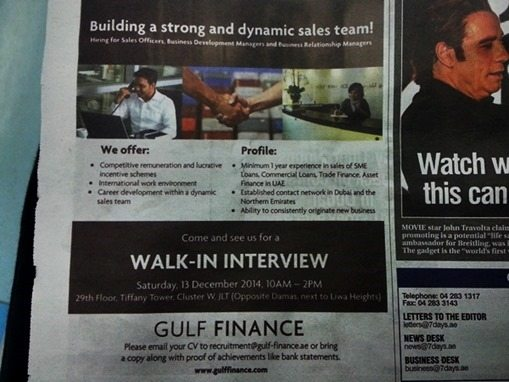 walk-in interview dubai
