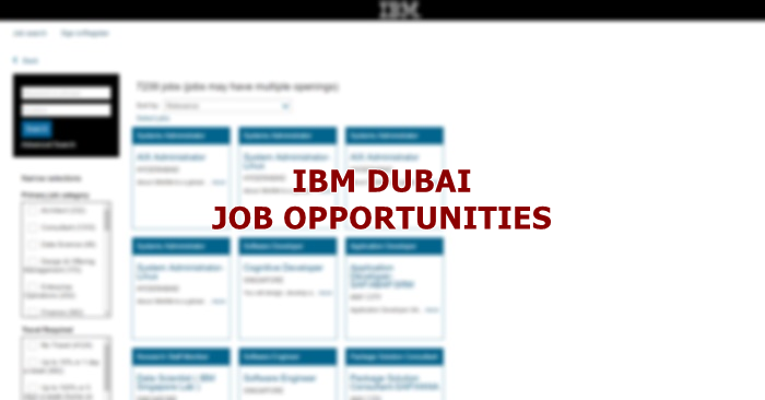 Ibm Uae Multiple Job Hiring May 2019 Dubai Ofw
