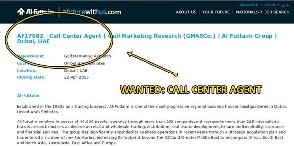 Call Center Agent Wanted by Al Futtaim | Dubai OFW
