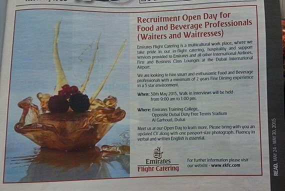emirates flight catering open day