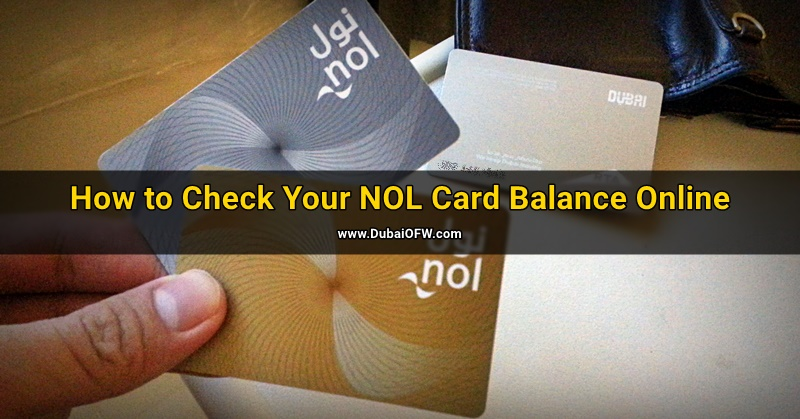how to check nol card balance