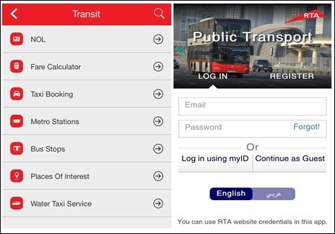 public transport app rta
