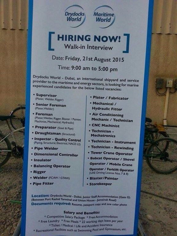 Dubai Terminal 4 Job Vacancy