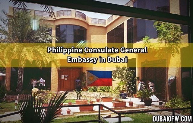 Philippine Embassy Office In Dubai Location Contact Info