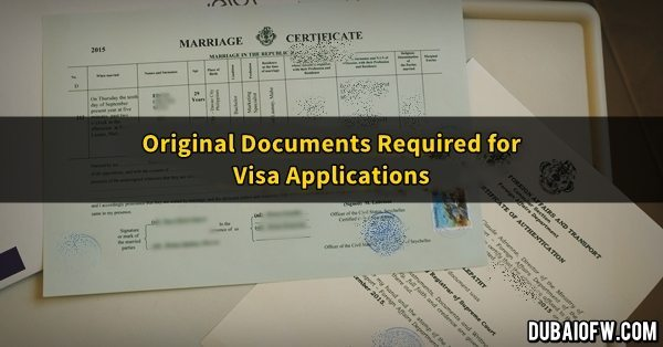 original documents uae visa
