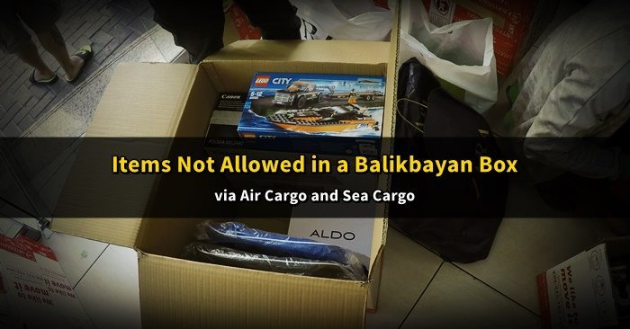 balikbayan box prohibited items