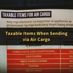 List of Taxable Items when Sending via Air Cargo