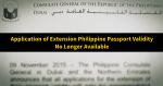 Extension of Philippine Passport Validity No Longer Available