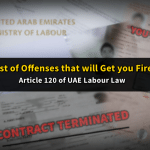 List of Offenses that will Get You Terminated from Work