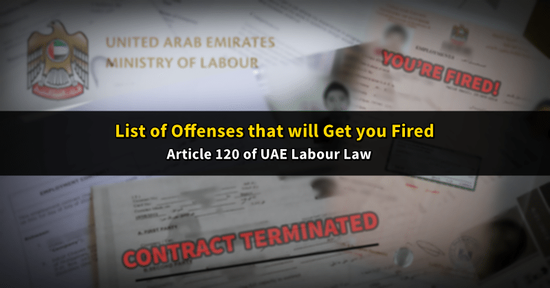 uae labour terminable offenses