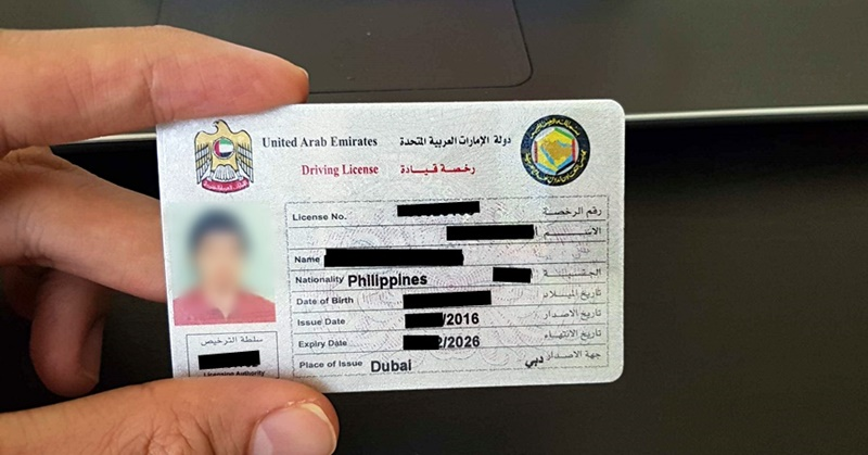 dubai driver's license photo