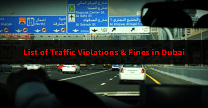 dubai driving violations and fines