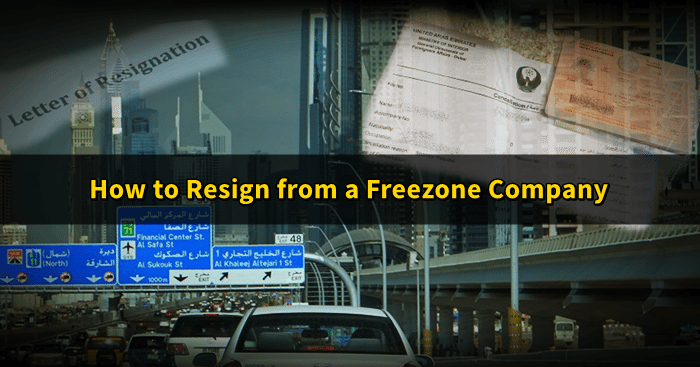 freezone company resignation