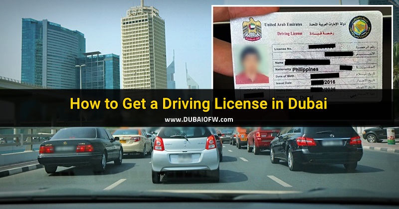 how to get a drivers license in dubai