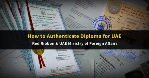 red ribbon - MOFA authentication - uae