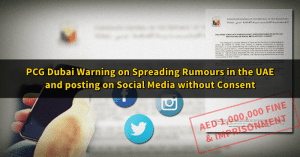 social media uae post warning PCG Dubai