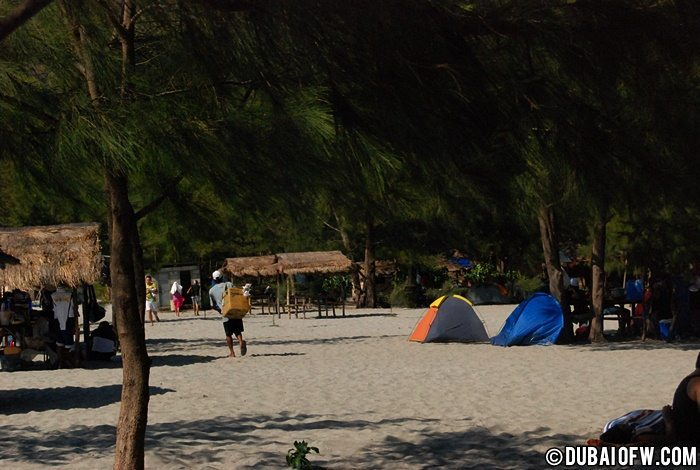 camping in anawangin Philippines