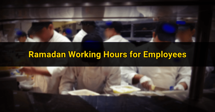 ramadan work hours employees