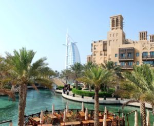 Burj Al Arab view from Souq Madinat