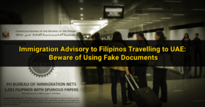 immigration filipinos fake documents uae