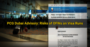 pinoys visa run advisory