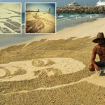 Pinoy Artist Makes Beautiful Beach Artwork in Dubai's Shorelines
