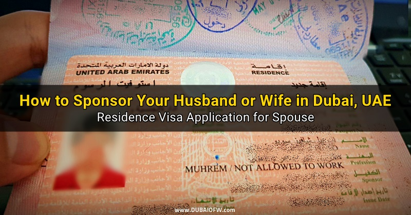 how to sponsor spouse uae