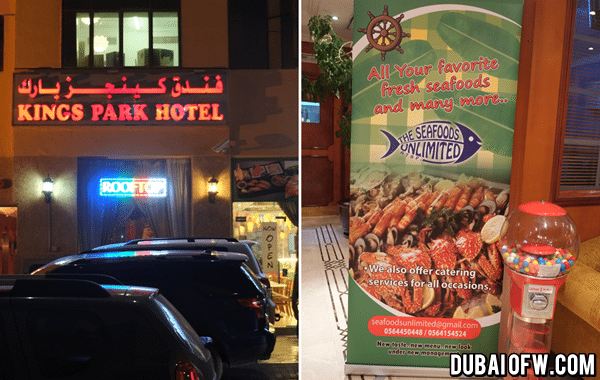 kings park hotel dubai seafood unlimited
