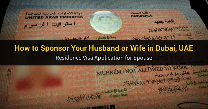 residence visa husband wife dubai uae