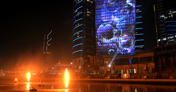 Imagine Water Fire And Light Show At Dubai Festival City