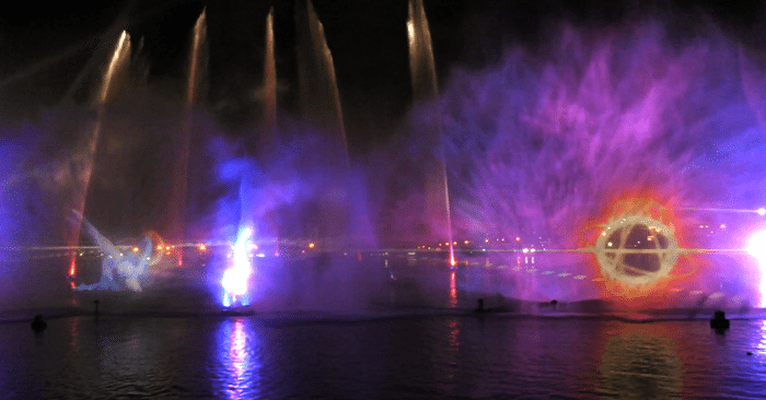Water Fire Light Holograms