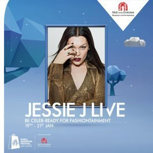 jessie j photo mall of the emirates