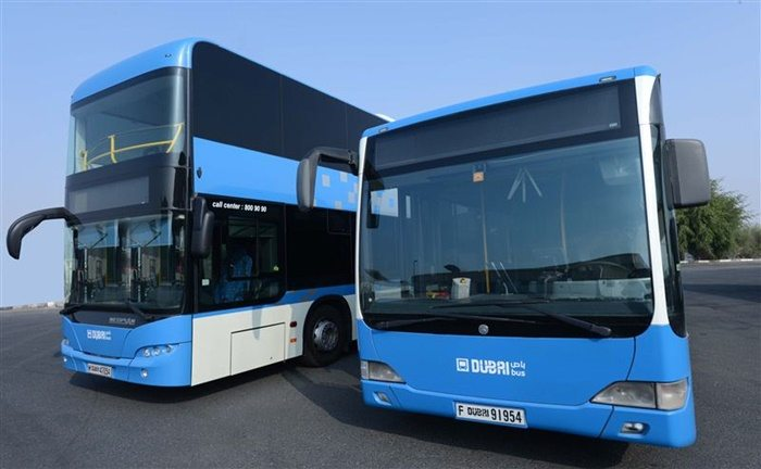 rta dubai bus blue