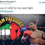 Pacquiao's tweet says it all. Image Credit: Twitter
