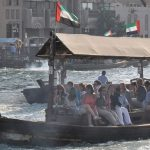 Many tourists enjoy a ferry ride along the Dubai Creek.