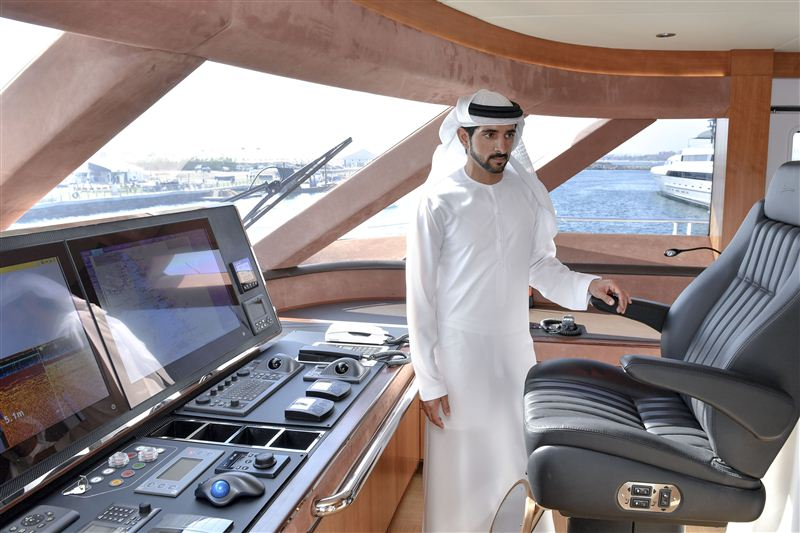 crown prince of dubai boat show photos