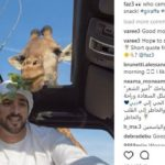 Photo of Dubai Prince Feeding a Giraffe Goes Viral