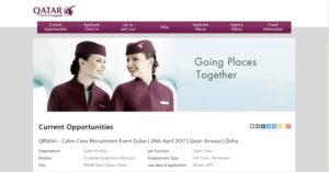 Qatar Airways walk in interview in Dubai